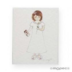 Card booklet little girl lily preciox100u. min.100 P. SWEET