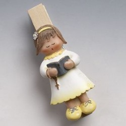 Girl singing clip+magnet 7,5 cm min.12 Q. SWEET