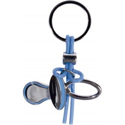 KEY CHAIN SHAPE BABY PACIFIER BLUE IN GIFT BOX