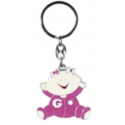 KEYCHAIN HAPPY BABY PINK IN GIFT BOX
