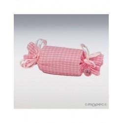 Bolsa caramelo vichy rosa 11,5x3,5cm. min.12 P.GOLOSO