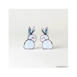 Clamp felt blue bunny 6,6 cm min.6
