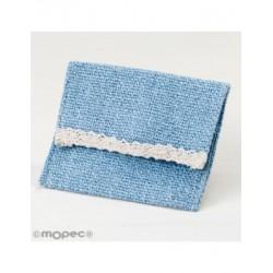Bolsita azul con velcro 10x11,5cm., min.12