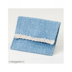 Bag blue with velcro 10x11,5cm., min.12