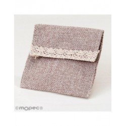 Bag brown with velcro 10x11,5cm., min.12