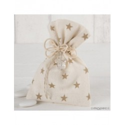 Bag cotton-star-beige pacifier 5 peladillas choc.*