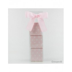 Estuche 3napolitanas topos rosa*