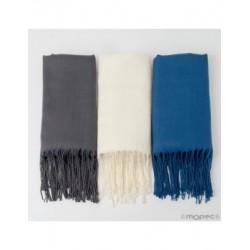Pashmina grey, blue and ivory 170x55cm., min.3