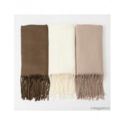 Pashmina marrón,beige y marfil 170x55cm., min. 5