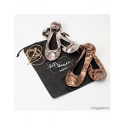 Manoletinas silver and copper size L+bag high heels min.2