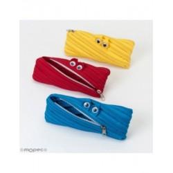 Case with zipper monster assortment 20x8,5cm., min.3