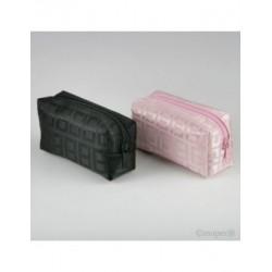 Bag zipper pink/black 5,5x10x4cm., min. 15