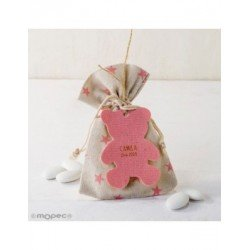 Bag-star 5peladillas choco.pendant teddy bear pink*