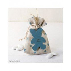 Bag-star 5peladillas choco.pendant teddy bear blue*