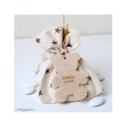 Bag-star 5peladillas choco.pendant teddy bear and fm transmitter