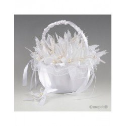 Basket white tulle 30prendidos sheet pearly PROMOTION