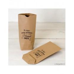 Bolsa Kraft No dejes para mañana,negro12x22,5X5cm.min.25