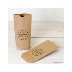 Bolsa Kraft Detalles enamoran,rojo 12x22,5cm. min.25
