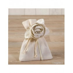 Cotton flower ivory with 3 chocolates*