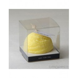 Candle aromatic fragrance lemon without tape 6X6cm., min.6