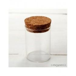 Tarro cristal con tapón de corcho Ø4,5x6,5cm. min.15
