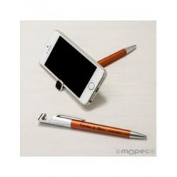 Stylo-support mobile ocre avec effacé-empreintes digitales écran