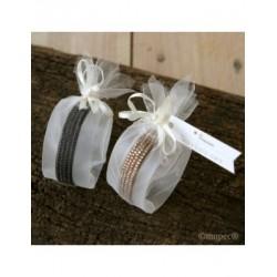 Bracelet strass stdo. black and brown embellished, min.2P.SWEET