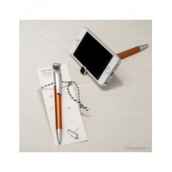 Pen ochre for mobile with erases fingerprints on p.de book