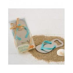 Abridor botella zapatilla playera en caja regalo
