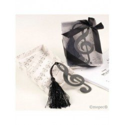 Point book clef in gift box+tie 8,5 cm