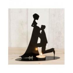 Figure/color pie, pregnant girlfriend,candle incl.19cm.