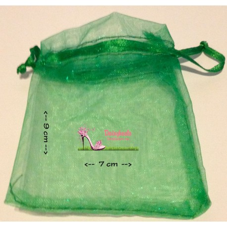 Organza bag color GREEN