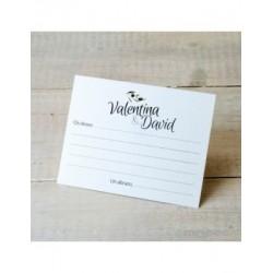 Les messages de la carte pour la mariée et le marié à olive branch min.25