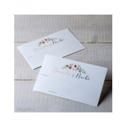 Tarjeta mensajes a los novios tiara de flores min.50