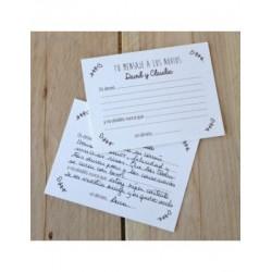 Tarjeta mensajes flores sin personal. ESP. 11x8,5cm.min.50