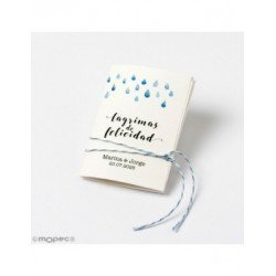 Handkerchief happy Tears 5,3x7,5cm min.32