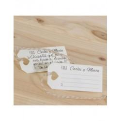 Card wishes heart 3x7cm with cord (preciox24u), min.24