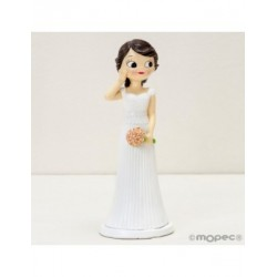 Figure cake wedding Pop&Fun, hand on the cheek, 21cm.