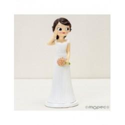 Figure cake wedding Pop&Fun, hand on the cheek, 21cm.