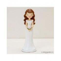 Figure cake wedding Pop&Fun with closed eyes, 21cm.