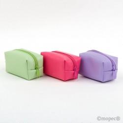 Wallet zipper green/lilac/fuchsia 7x4x4cm. min.6 Q. SWEET