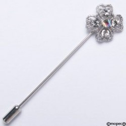 Alfiler metálico flor ribeteada min.15