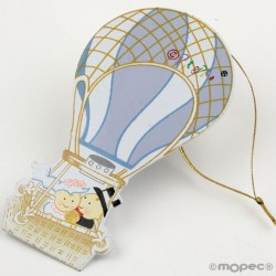 Pit & Pita balloon, metal magnet+ring 11.5 cm, min.6 Q. SWEET