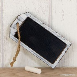 Slate rectangular(10x5cm.)with twine, chalk included, min.3