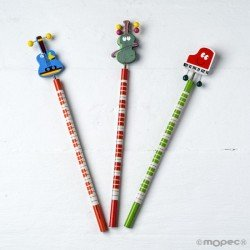 Pencils musical instruments range, min.3