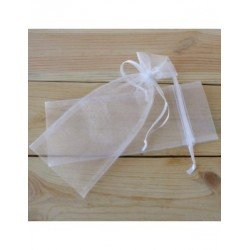 Bolsa cristal blanca 8X20(16+4)cm. min.24