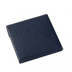 Cajita azul oscuro 4,5x4,5x0,5cm, min.25
