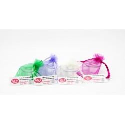 Pack 30 pares cubretacones Verde + Crema + Violeta + Fucsia